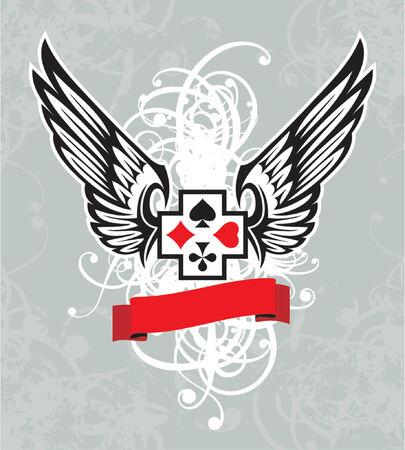 vector design element, heraldic wing Vector