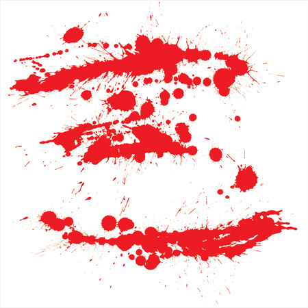 set from several different bloody grunge objects Stock Vector - 937144