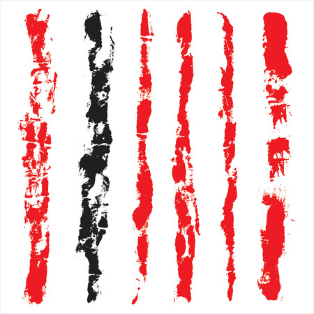 set from several different bloody grunge objects Stock Vector - 937146