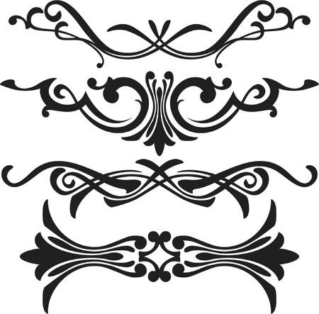 vector ornament: vector ornament In flower style Illustration