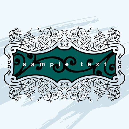 vector banners or headers: vector ornament In flower style Illustration