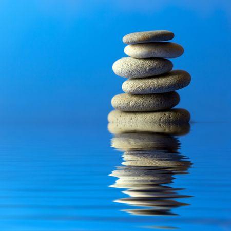 A set of balanced round smooth stones Stock Photo - 1015740