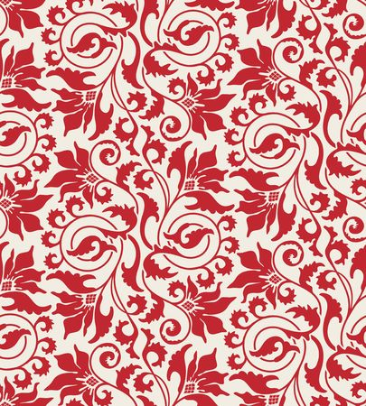 Seamless background from a flower ornament, Fashionable modern wallpaper Vector