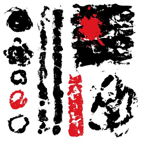 set from several different bloody grunge objects Stock Vector - 1373077