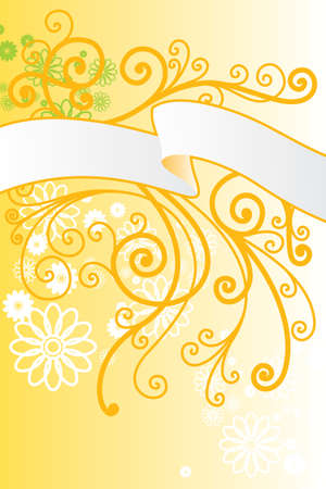 vector ornament In floral style with flowers Vector