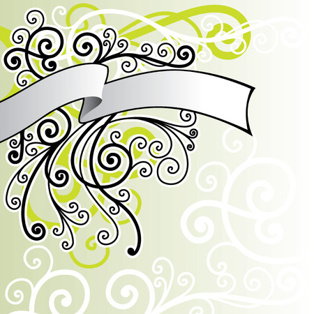 fancy border: vector ornament In flower style Illustration