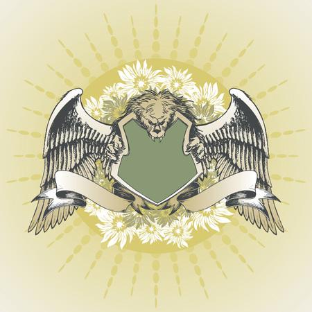 lion wings: El vector real de armas del le�n y con alas  Vectores