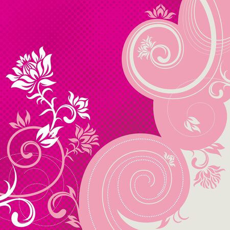 rococo: vector ornament In flower style Illustration