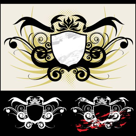 The vector royal arms and ornament Vector