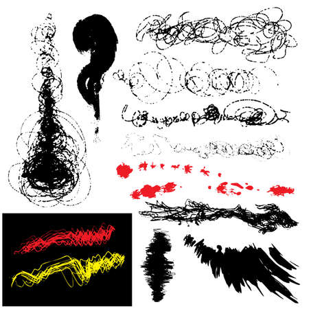 set from several different grunge objects Stock Vector - 1888715