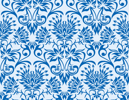 Seamless background from a flower ornament, Fashionable modern wallpaper Illustration