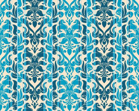 Seamless background from a flower ornament, Fashionable modern wallpaper or textile Vector