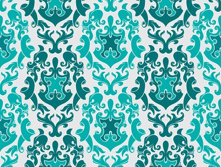 Seamless background from a flower ornament, Fashionable modern wallpaper or textile Stock Vector - 1979566