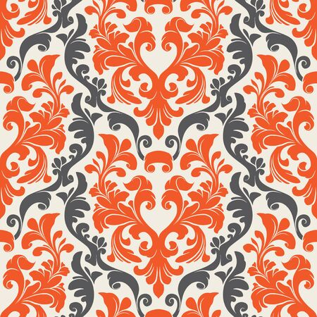Seamless background from a flower ornament, Fashionable modern wallpaper or textile Stock Vector - 1979563