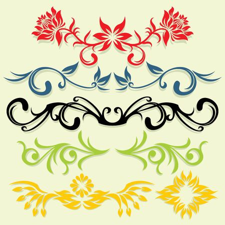 fancy border: En Vector ornamento de flores estilo