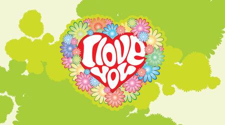 Vector heart with an inscription - I love you Stock Vector - 2369106