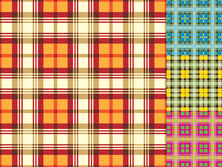 Seamless background from a scottish cloth, wallpaper or textile Vector