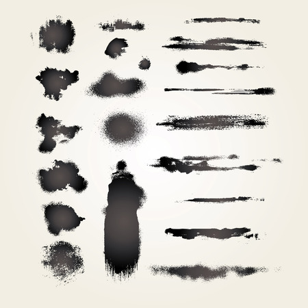 set from several different grunge objects Stock Vector - 2406987