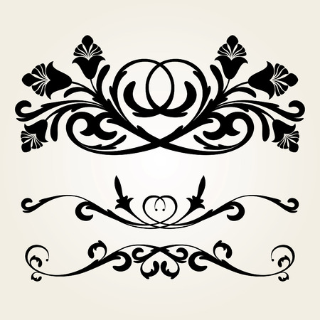 ornaments vector: vector ornament In flower style Illustration