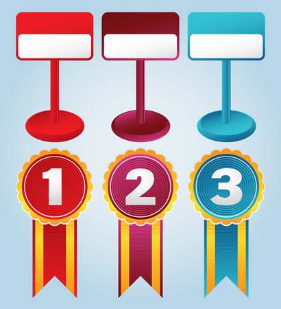 rankings: vector images of prices and awards
