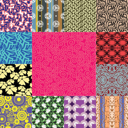 silhuette: Seamless backgrounds from a floral ornament, Fashionable modern wallpaper or textile