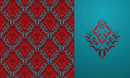 keywords background: Seamless background from a floral ornament, Fashionable modern wallpaper or textile