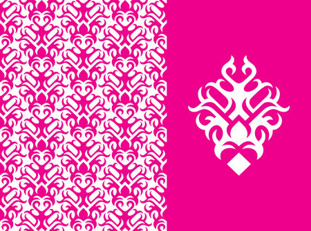 Seamless background from a floral ornament, Fashionable modern wallpaper or Stock Vector - 2903682