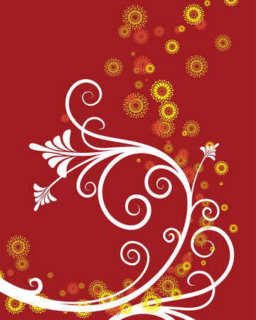 corazones: vector ornament In flower style Illustration