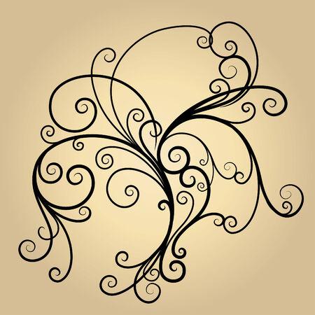 vector ornament In flower style Illustration