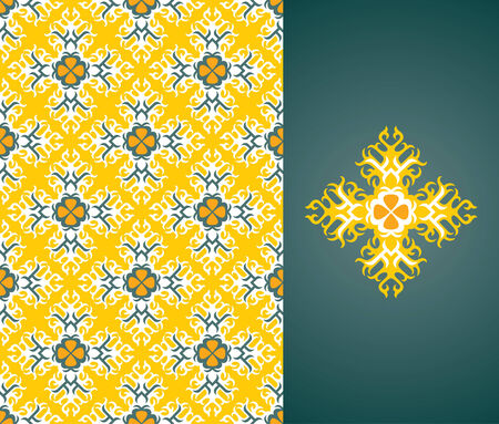 Seamless background from a floral ornament, Fashionable modern wallpaper or textile Stock Vector - 2934487