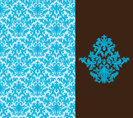 floral ornaments: Seamless background from a floral ornament, Fashionable modern wallpaper or textile