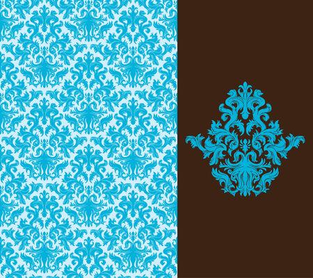 fondo elegante: Sin fisuras de fondo de un ornamento floral, a la moda o moderna papel tapiz textil  Vectores