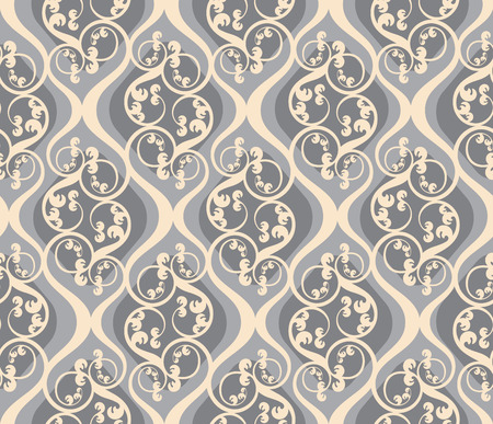 damasco: Sin fisuras de fondo de un ornamento floral, a la moda o moderna papel tapiz textil  Vectores