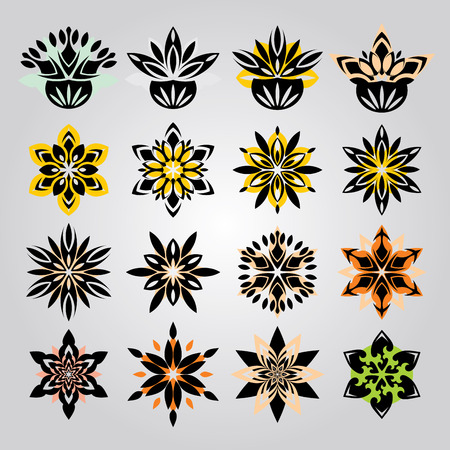 vector set ornament In flower style Stock Vector - 3116823