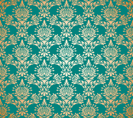 Seamless background from a floral ornament, Fashionable modern wallpaper or textile Stock Vector - 3216858