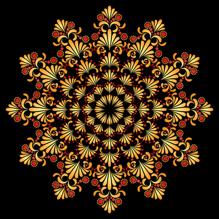 hohloma: Vector ornament in style of Russian folk art hohloma Illustration