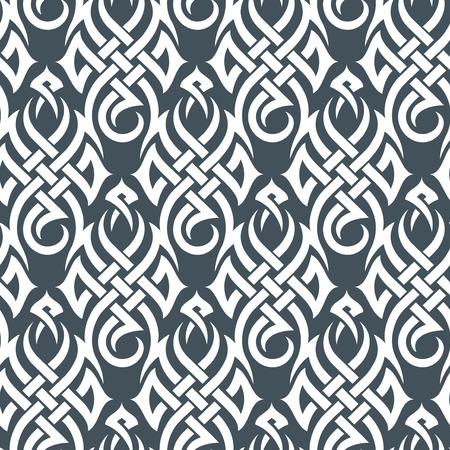dessin tribal: Seamless � partir d'un ornement de tribu, la mode ou du textile moderne wallpaper Illustration