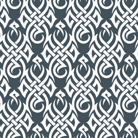 tribal pattern: Seamless background from a tribal ornament, Fashionable modern wallpaper or textile
