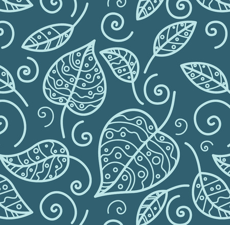 Seamless background from a floral ornament, Fashionable modern wallpaper or textile Stock Vector - 3657162