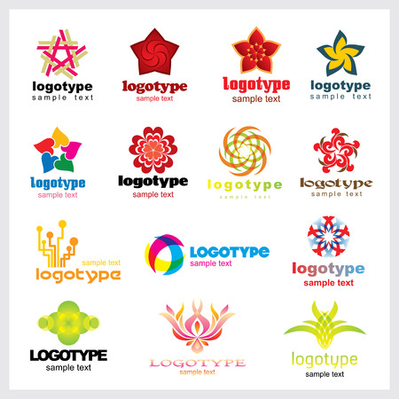 your logo: Set of vector logo for your company or a site