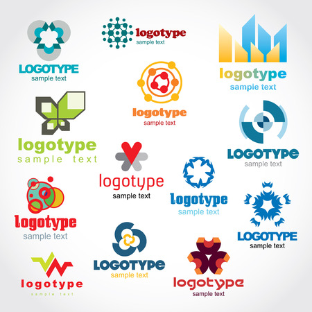 logo vector: Set of vector logo for your company or a site,  Illustration