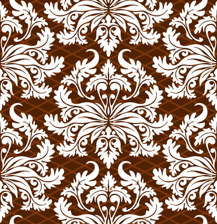 vector wallpaper: Seamless background from a floral ornament, Fashionable modern wallpaper or textile