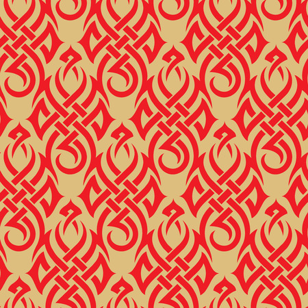 Seamless background from a tribal ornament, Fashionable modern wallpaper or textile Stock Vector - 3834746