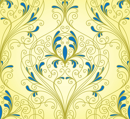 tracery: Seamless background from a floral ornament, Fashionable modern wallpaper or textile