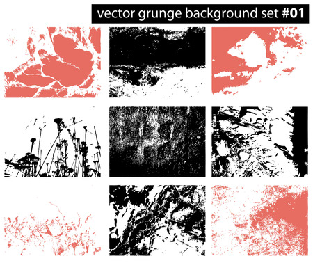 set from several different grunge backgrounds Stock Vector - 4027216