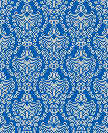 flores: Seamless background from a floral ornament, Fashionable modern wallpaper or textile