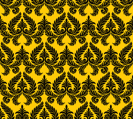 artwork: Seamless background from a floral ornament, Fashionable modern wallpaper or textile