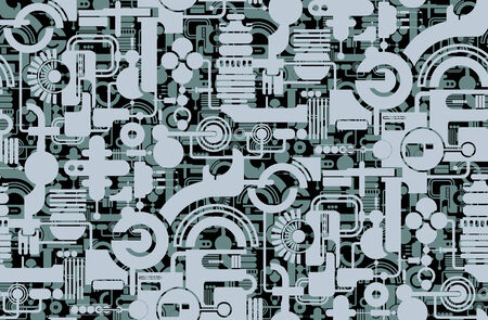 Seamless background from a geometrical ornament, Fashionable modern wallpaper or textile