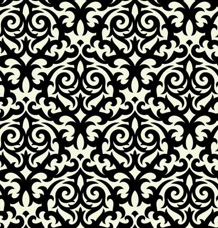 moderne: Sans soudure en arri�re-plan � partir d'un ornement floral, la mode moderne, papier peint ou en textile