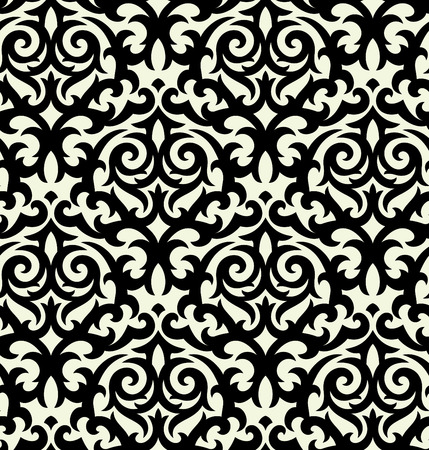 Seamless background from a floral ornament, Fashionable modern wallpaper or textile Stock Vector - 4037537